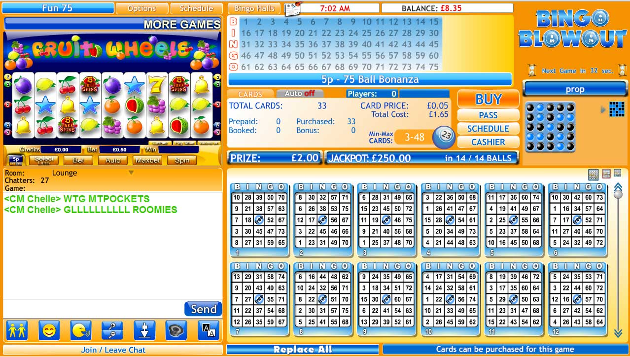 Bingo Blowout Lobby